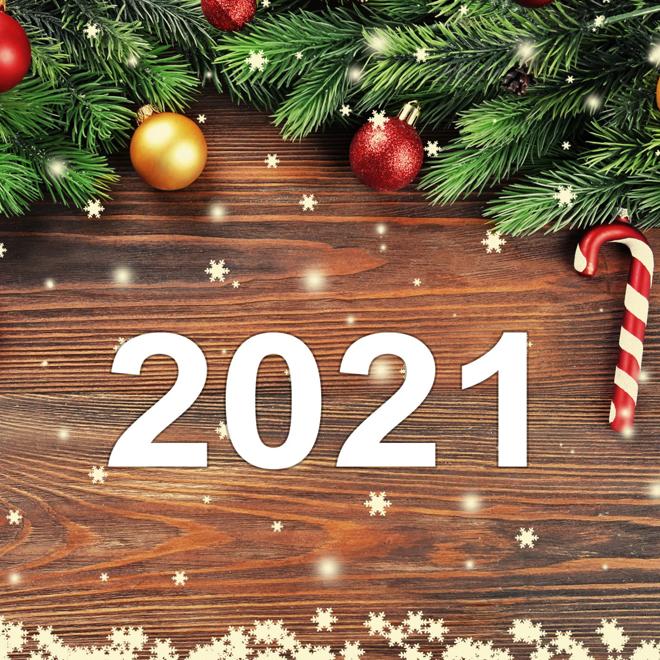 31.12.2020 - 02.01.2021 - Новогодние каникулы 2021