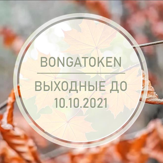 27.09.2021 - 10.10.2021 - BongaToken в отпуске!